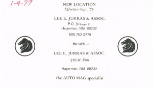 Lee Jurras new address