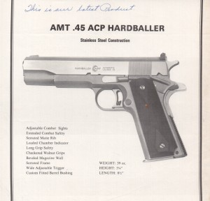 .45acp Hardballer flyer