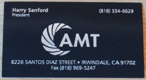 Harry Sanford business card