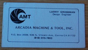 Larry Grossmann business card